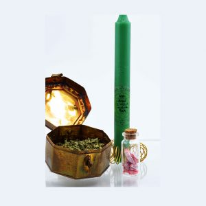rituale di venere candela verde